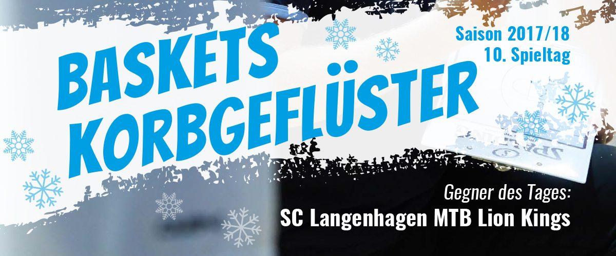 Das offizielle Spieltagsheft zum Spiel gegen den SC Langenhagen MTB Lion Kings