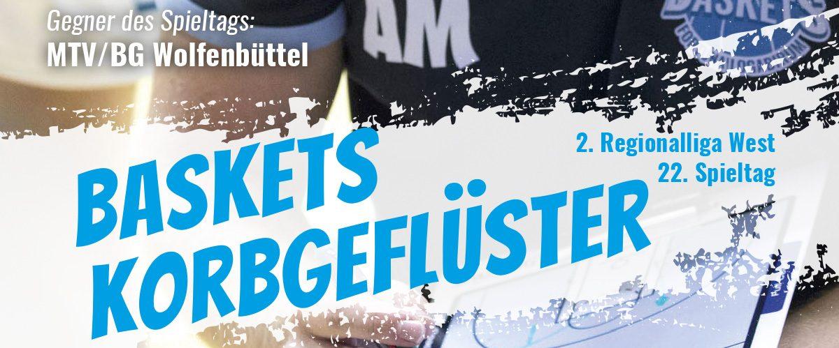 Das offizielle Spieltagsheft zum Spiel gegen MTV/BG Wolfenbüttel