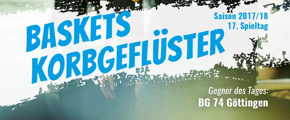 Das offizielle Spieltagsheft zum Spiel gegen BG 74 Göttingen