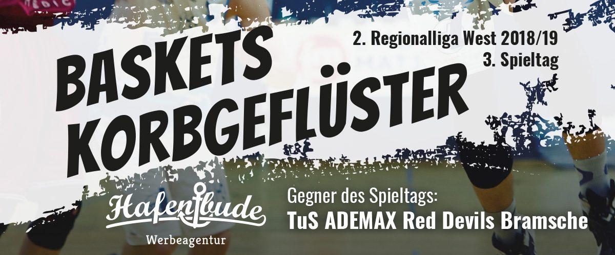 Das offizielle Spieltagsheft zum Spiel gegen TuS ADEMAX Red Devils Bramsche