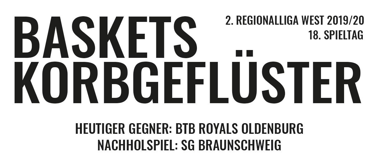 Das offizielle Korbgeflüster zum Spiel gegen die BTB Royals Oldenburg